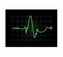 Cardio EKG monitor Art Print