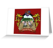 Life as a Medieval Peasant - crest design Greeting Card