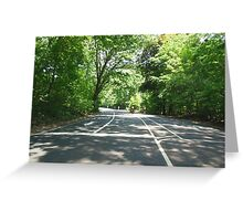 Views of Prospect Park - An Empty Road Greeting Card