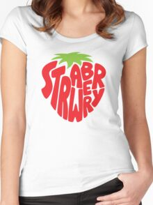 Type O' Strawberry Women's Fitted Scoop T-Shirt