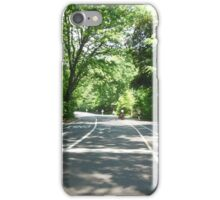 Views of Prospect Park - An Empty Road iPhone Case/Skin
