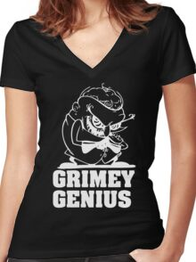 Greedy Genius Women's Fitted V-Neck T-Shirt