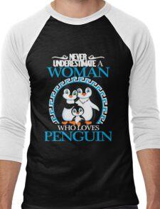 Penguins - Never Underestimate A Woman Who Loves Penguin Men's Baseball ¾ T-Shirt