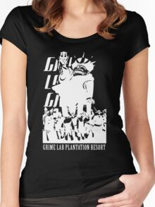 Grime Lab Plantation Resort Women's Fitted Scoop T-Shirt