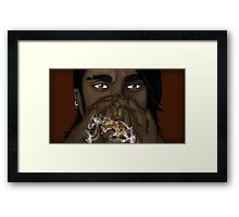 The Fire Breather Framed Print