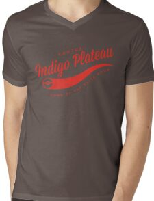 Indigo Plateau (Red) Mens V-Neck T-Shirt