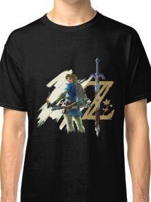 The Legend of Zelda: Breath of the Wild - Link & Logo Classic T-Shirt