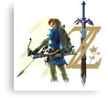 The Legend of Zelda: Breath of the Wild - Link & Logo Canvas Print