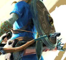 The Legend of Zelda: Breath of the Wild - Link & Logo Sticker