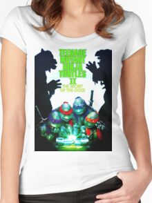 TMNT  The Secret Of The Ooze 2016 Women's Fitted Scoop T-Shirt