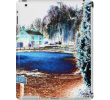Psychedelic village pond iPad Case/Skin