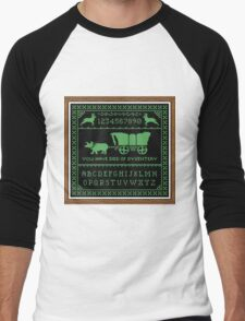 Oregon Trail Cross-Stitch Sampler Men's Baseball ¾ T-Shirt