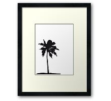 Palm tree on the beach sun sea Framed Print