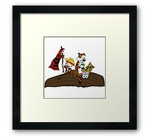 Calvin and Hobbes Adventure Framed Print