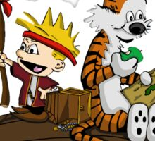 Calvin and Hobbes Adventure Sticker