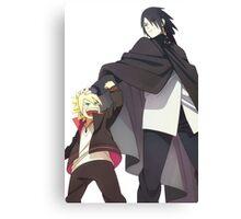 Sasuke & Boruto Canvas Print