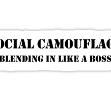 Social camouflage Sticker