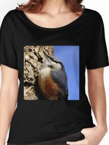 A Nuthatch on a tree 2 Women's Relaxed Fit T-Shirt