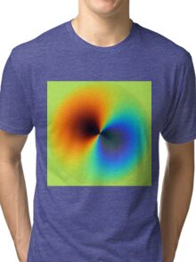 Rainbow in the globe. Tri-blend T-Shirt