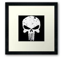 punisher Skull Framed Print