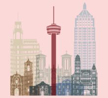 San Antonio skyline poster One Piece - Short Sleeve