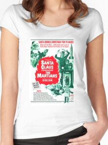 Santa Claus Conquers The Martians Women's Fitted Scoop T-Shirt