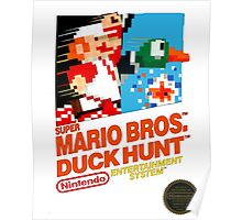 NES Super Mario Bros & Duck Hunt  Poster