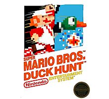 NES Super Mario Bros & Duck Hunt  Photographic Print