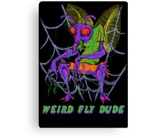 Weird Fly Dude Canvas Print