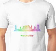 Rainbow Nashville skyline Unisex T-Shirt