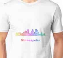 Rainbow Minneapolis skyline Unisex T-Shirt