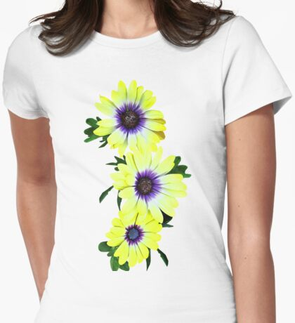 African Daisies Lemon Symphony Womens Fitted T-Shirt