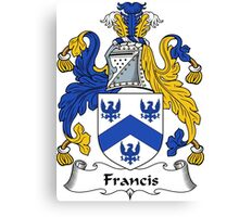 Francis Coat of Arms / Francis Family Crest Canvas Print