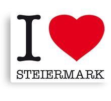 I ♥ STEIERMARK Canvas Print