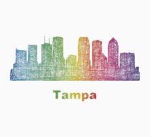 Rainbow Tampa skyline Baby Tee