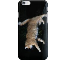 Ginger cat playing with toy mouse iPhone Case/Skin