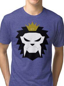 Sabre-toothed King Lion Skull - MulloIV Tri-blend T-Shirt