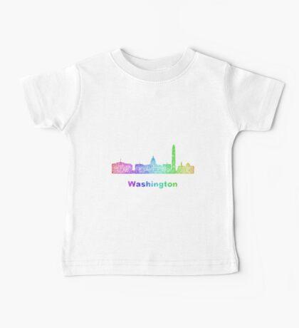 Rainbow Washington skyline Baby Tee