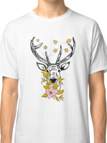 Deer with crystals and flowers Classic T-Shirt