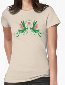 Grasshoppers deeply falling in love Womens Fitted T-Shirt