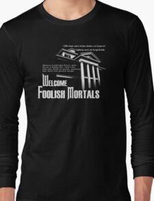 Haunted Mansion Ghost Host Speech Long Sleeve T-Shirt
