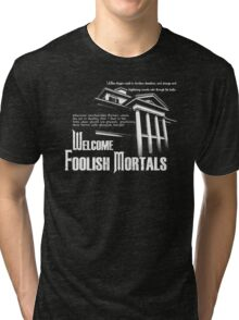 Haunted Mansion Ghost Host Speech Tri-blend T-Shirt