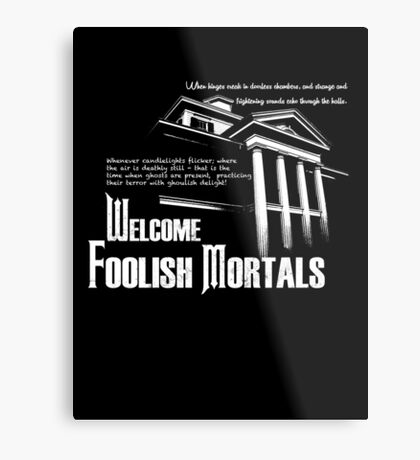 Haunted Mansion Ghost Host Speech Metal Print