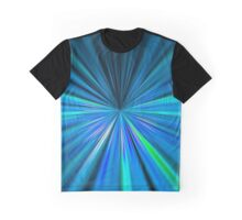 Blue converging lines pattern Graphic T-Shirt