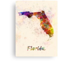 Florida US state in watercolor Canvas Print