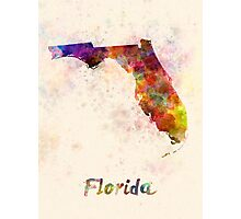 Florida US state in watercolor Photographic Print