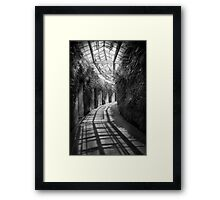 Architecture - The unchosen path - BW Framed Print