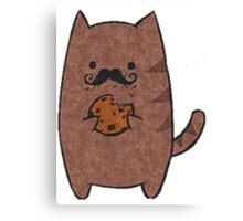 Cat with Cookie Canvas Print
