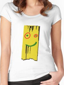 WOOD PLANK Women's Fitted Scoop T-Shirt