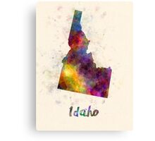 Idaho US state in watercolor Canvas Print